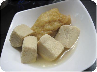 高野豆腐ときんちゃく煮