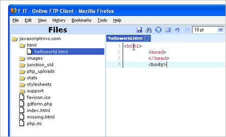 FTPクライアントアプリケーション