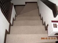 階段カーペット施工前