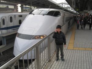 大好きな新幹線と♪