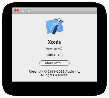 Xcode 4.2 GM seed