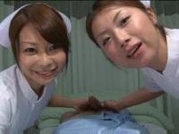 看護士さんの淫語責め W手コキフェラ