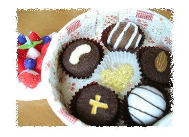 フェルトのチョコレート