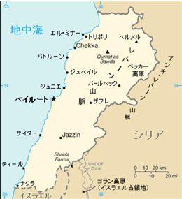 レバノン地図